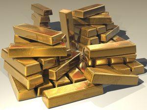 montagna di lingotti d'oro